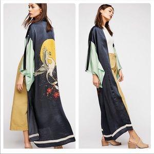 Free people rising sun kimono new o/s
